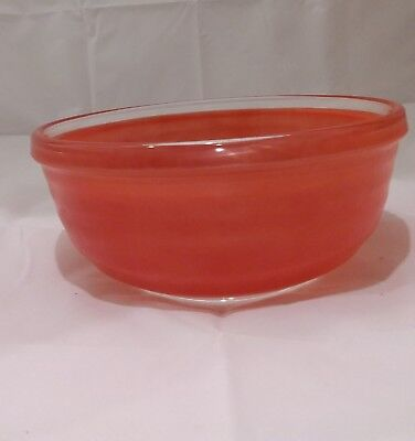 Vintage Phoenix Red Glass Mixing Bowl Pyrex Sprayware 1950s