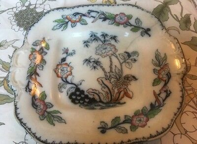 Beautiful, antique ( Mid 19th Century) Display Plate - Kaolin 'Bamboo' Ware