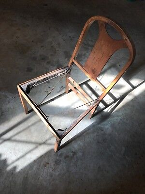 Antique & Unique! Early Example of Mechanical Folding Chair, Beyond Cool!