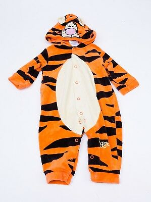 Disney Tigger Winnie the Pooh - All In One/ Romper Suit 0-6/ Up to 6 Months