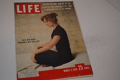 Vintage March 3, 1958 Life Magazine - Sally Ann Howes on Cover