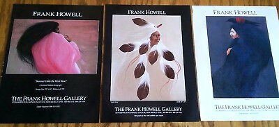 3 Frank Howell Gallery Ads / Santa Fe New Mexico NM / Native American / ABQ