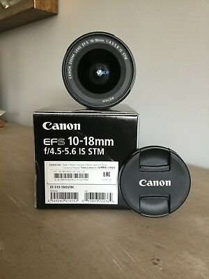 CANON 10-18mm f/4.5-5.6 IS STM Lens (Black) Boxed
