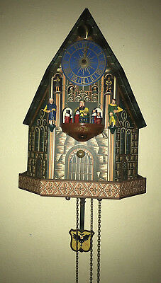 Cuckoo Clock Vintage Rare E Schmeckenbecher West Germany King Knights Animated