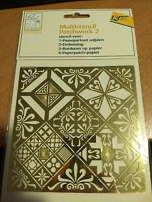 Multistencil Patchwork (Passepartout Cut/embossing/embroidery/paperpatch (J503