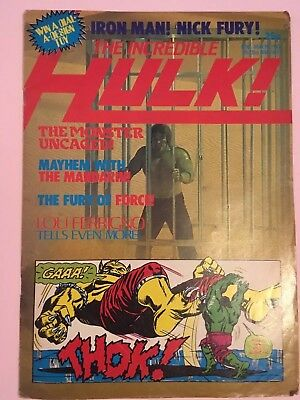THE INCREDIBLE HULK #8 MARVEL Magazine Comic MAY 19th 1982