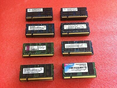 (Lot of 40) Mixed Brand 2GB PC2-6400 800MHz DDR2 SODIMM Laptop Memory RAM - R648