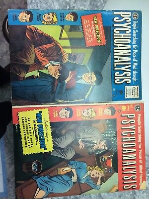 Psychoanalysis comic  1955  no. 1&2  good condition.. nick on cover of #1