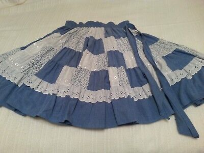 Denim Patchwork Square Dance Skirt