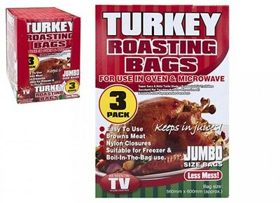 Large Roasting Bags Oven Microwave Cooking Meat Turkey Fish - Jumbo Size