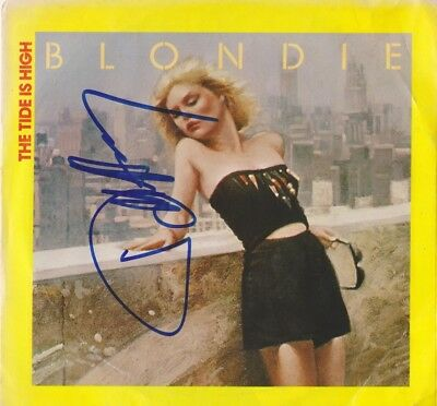 DEBBIE HARRY  (BLONDIE)  autographed  signed vinyl 45...CALL ME