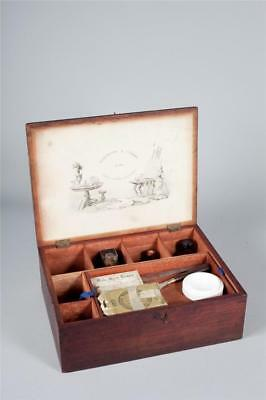 """Vintage c1840 ~ """"Roberson & Compy"""" Artists Paint Box with Part Contents"""