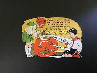 Vintage Teen's Halloween Party Invitation From Late 1920's