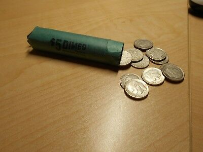 Roll 50 Coins SILVER 1947-1954 Roosevelt Dimes from Private Collection