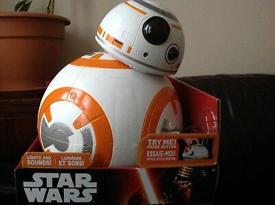 "Star Wars BB8 Deluxe Big Figs Electronic 18"" Talking Action Figure NEW"