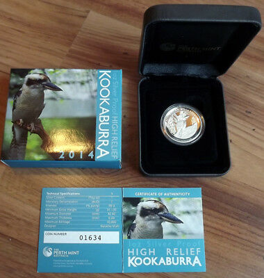 2014 Australian 1oz High Relief Kookaburra .999 Silver Proof Coin. Others listed