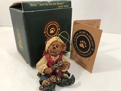 Boyd's Bears Bearstone Collection - Jingles Ring in the Cheer - Ornament #25750
