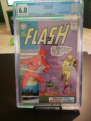 The Flash 139 CGC 6.0 w/ OW/W PAGES from 1963! 1st Reverse Flash DC key!!!