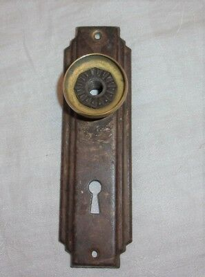 Antique Door Plate With Knob Base