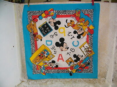 Walt Disney Mickey Mouse,donald Duck,& Pluto Child's Table Cloth *excellent*