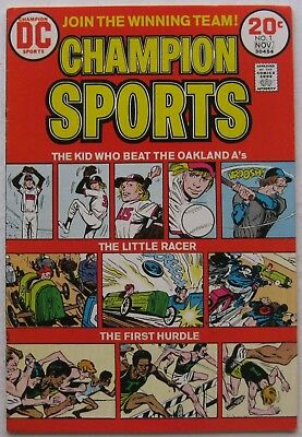"Champion Sports #1 (Oct-Nov 1973, DC), VG, ""The Kid Who Beat The Oakland A's"""