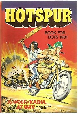 HOTSPUR : The Book For Boys 1981....Used VG...