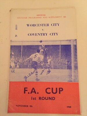 Worcester City V Coventry City Fa Cup First Round 1960-61