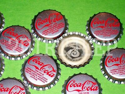10 COCA-COLA 75th ANNIVERSARY COKE SODA REAL POP OLD UNUSED P/L BOTTLE CAPS C