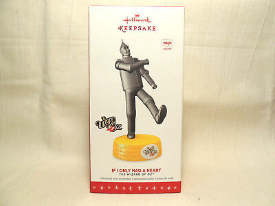 Hallmark 2016 IF I ONLY HAD A HEART Tin Man Wizard of Oz MAGIC Ornament - Music