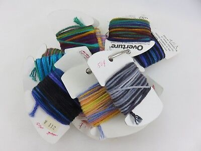 RG Overature Heavy Strandable 4-Ply Thread Yarn 14pc Lot #893 Assorted Colors