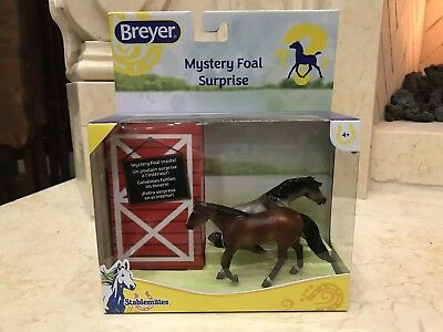 Breyer Mystery Foal Surprise Stablemate #5938 Brown Gray Reining Horse SEALED