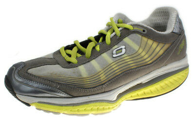 SKECHERS 12370 KINETIC Wedge Technology SHAPE UPS Womens Gray Sneakers Shoe 8 M