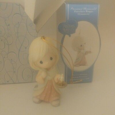 """Precious Moments /""""May your Faith Light The Way/"""" Porcelain Bisque Ornament 2009"""
