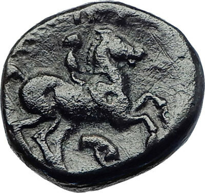 Philip II Alexander the Great Dad OLYMPIC GAMES Ancient Greek Coin Horse i73639