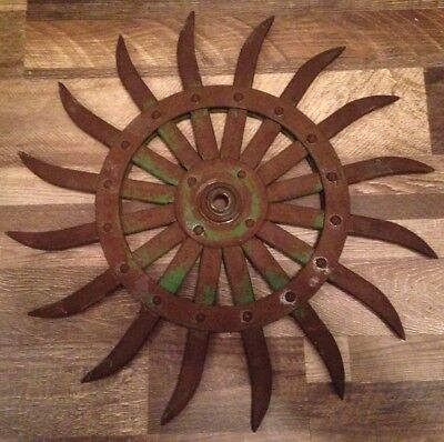 Vintage Wheel Rustic Metal Farm Gear Spiked Garden Art Steampunk