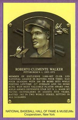Roberto Clemente Walker Pittsburgh Pirates Hall of Fame Postcard #C38325