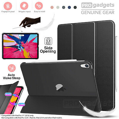 """iPad Pro 11"""" 2018 Case, Genuine MoKo Ultra Slim Frosted Back Stand Cover Apple"""