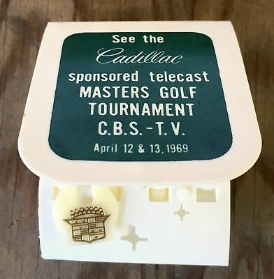 1969 MASTERS GOLF TOURNAMENT TEE-TOTER and BALL MARKERS by CADILLAC and CBS-TV