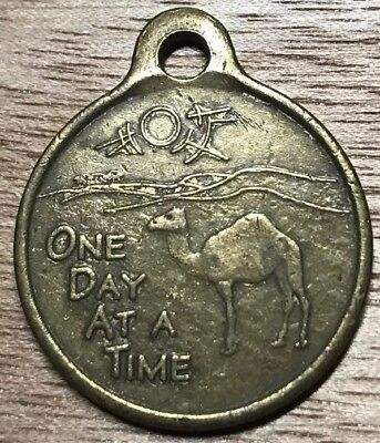 Vintage One Day At A Time Camel Charm Medal