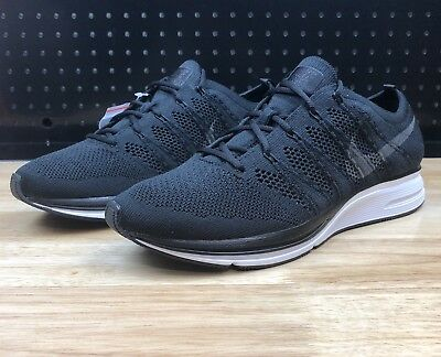 89a85244398 Nike Air Flyknit Trainer Men s Size 8.5 Black White Running Shoes AH8396-007  New