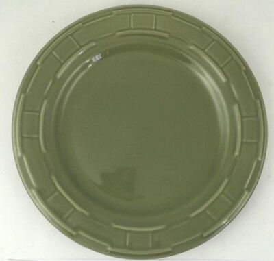 "LONGABERGER Pottery Woven Traditions 10"" DINNER Plate SAGE GREEN"