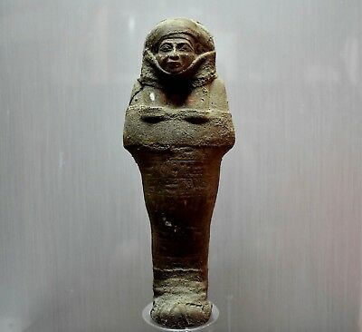 ANCIENT EGYPT ANTIQUE  EGYPTIAN large sandstone USHABTI 31 cm 1500–300 BC