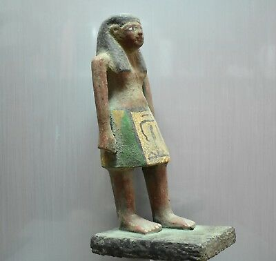 ANCIENT EGYPT ANTIQUE  EGYPTIAN Beautiful wood statue of king 1500–300 BC