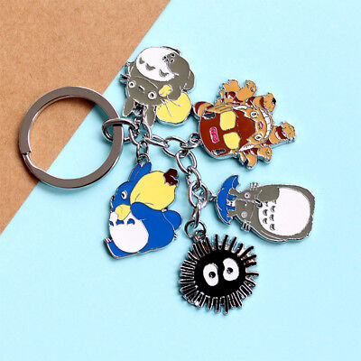 My Neighbor Totoro Japanese Anime Cosplay Cute Keyring Key Chain Keyfob Gifts US