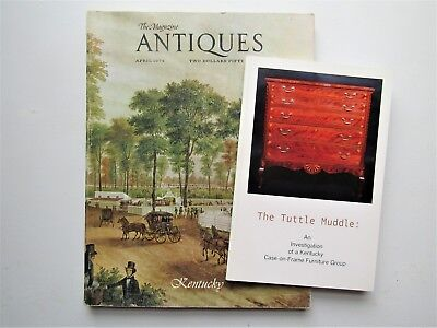 Magazine ANTIQUES Kentucky issue+ Tuttle Muddle Kentucky case-on-frame furniture
