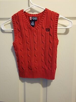 Boys 4/4t Red Chaps Sweater Vest
