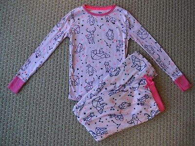 OLD NAVY GIRLS Constellation Stars Graphic Knit   Fleece Sleep Pajama Set  XL 12 6b5c958b5