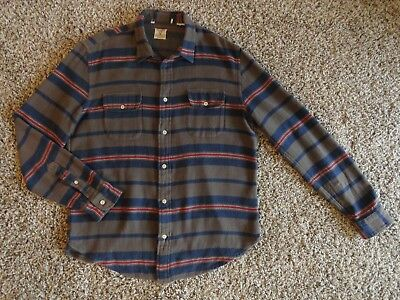 LEVIS LVC SHORT HORN STRIPE FLANNEL SHIRT ITALIAN FABRIC LARGE Levi Strauss