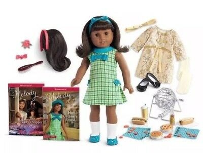 AMERICAN GIRL DOLL Melody Collection NEW Christmas Block Party Hairstyling LOT