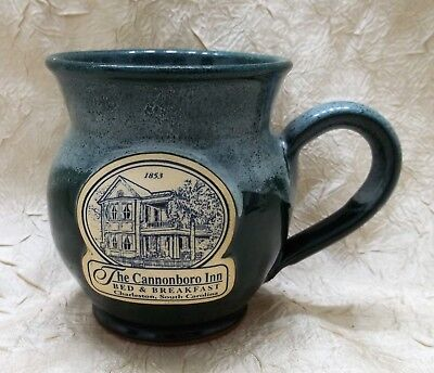 The Cannonboro Inn Bed & Breakfast Coffee Mug Pottery Cup Charleston SC